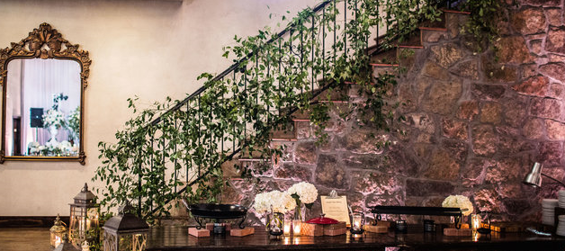 smilax, stair, stairway, brick, inside, decoration, jackson, vine, ivy